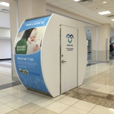 Nursing pod at T gate in Atlanta. Wonder what's actually in there.